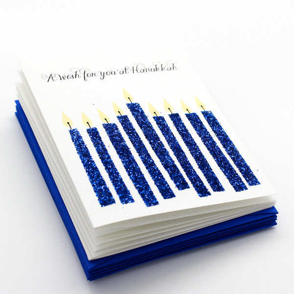 Hanukkah Candles Boxed Cards