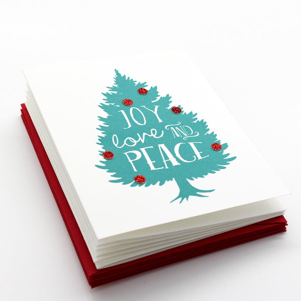 Rustic Tree (Teal) Boxed Cards