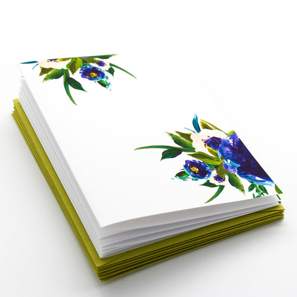 Purple Posies Boxed Cards