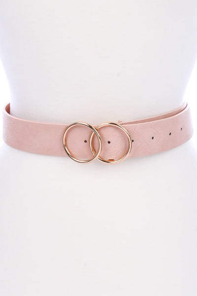 Pre- Order Only Double Circle Pin Belt - Taupe