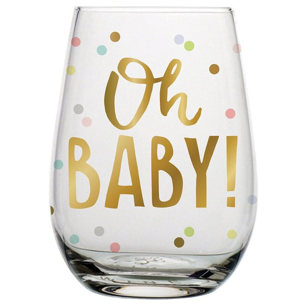 Stemless Wine Glass - Oh Baby!