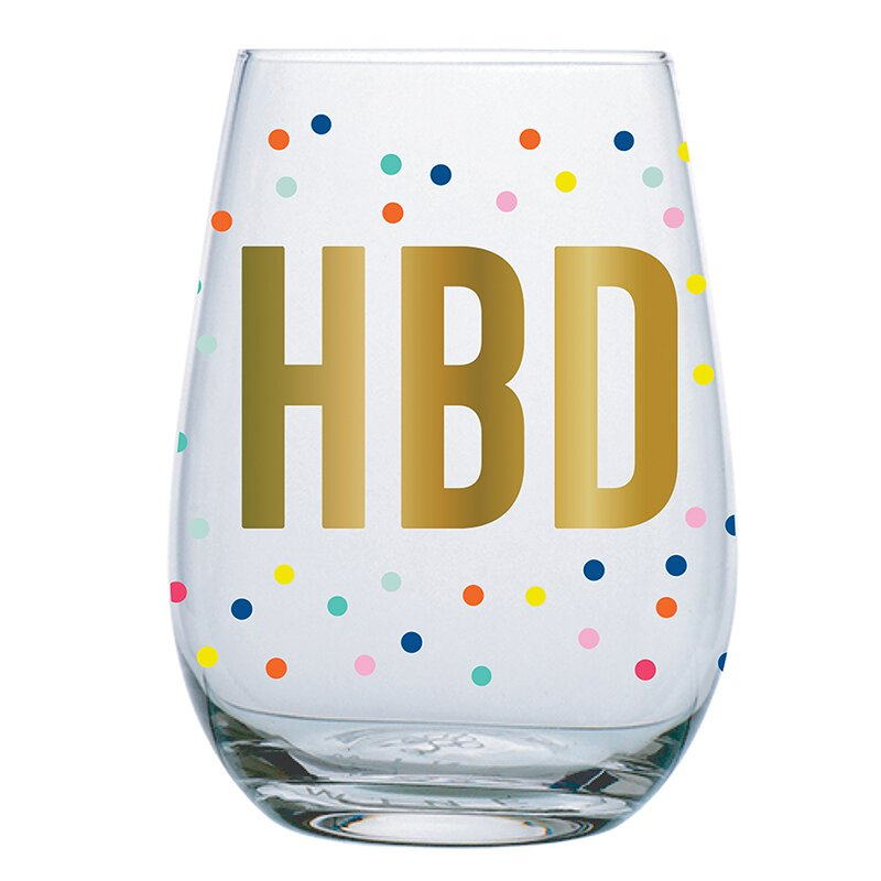 Stemless Wineglass - HBD