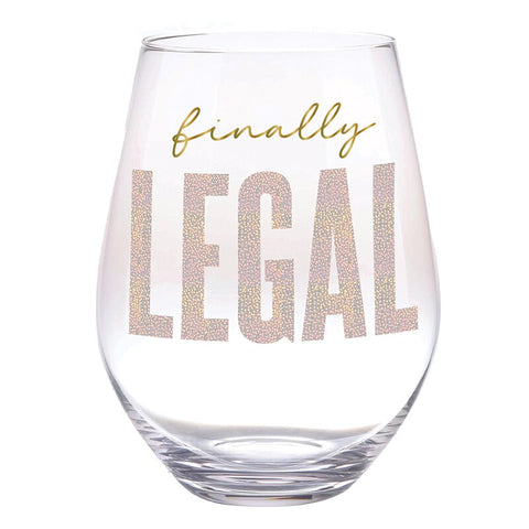 Stemless Wine Glass 30 oz - Finally Legal