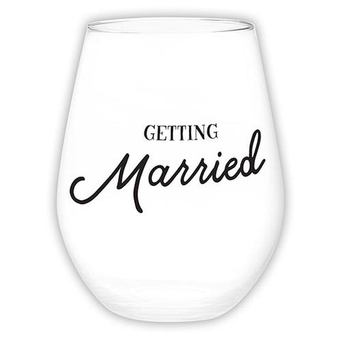Stemless Wine Glass - getting married