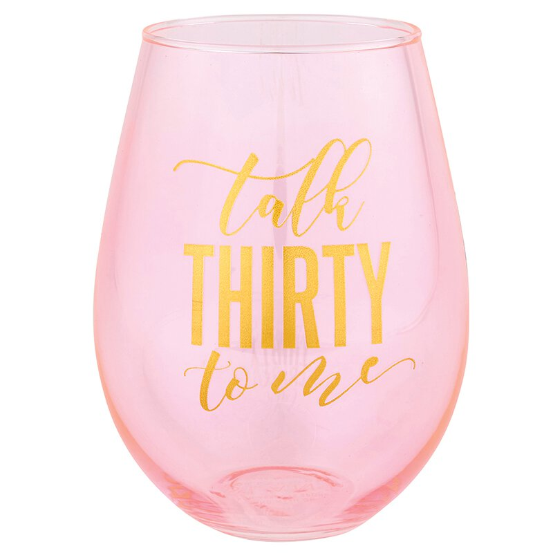 Stemless Wine Glass 30 oz - Talk Thirty