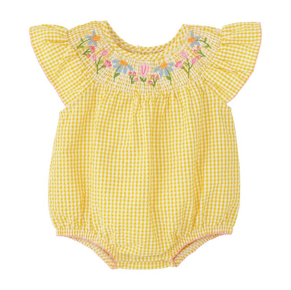 Farmhouse Smocked Bubble