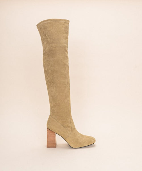 Control The Scene Knee High Boots - Khaki