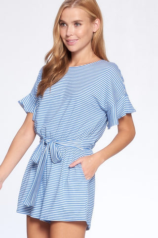 Carlee Striped Dolman Romper