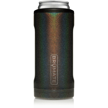 Hopsulator Slim Can Cooler - Glitter Charcoal