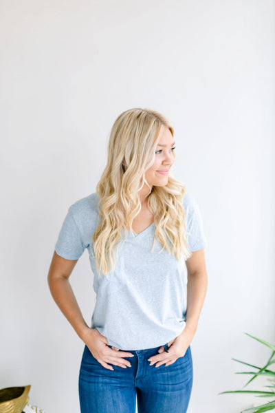 The Triblend Pocket Tee - Allure Blue