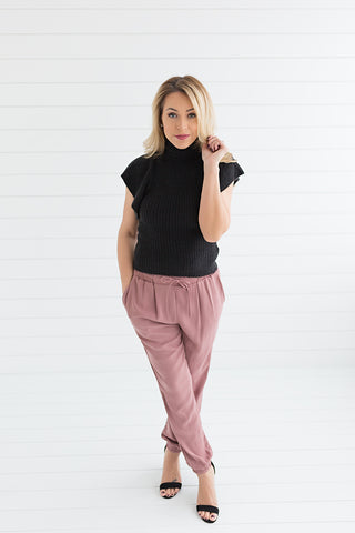 Hailey Jogger Pants - Dusty Rose