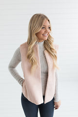 Blushing Faux Fur Vest