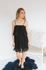 Special Guest Pleated Mini Dress