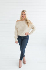 Camilla Scoop Neck Sweater - Beige