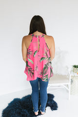 Meet Me Somewhere Tropical Blouse