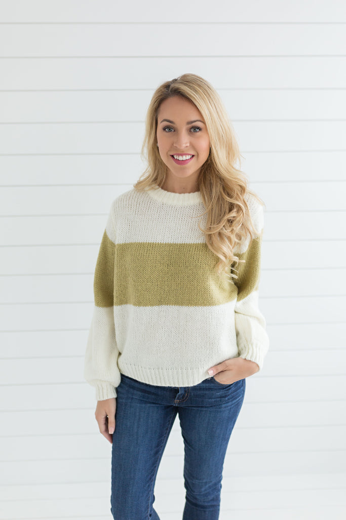 Courtney Color Block Sweater