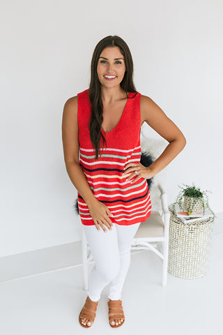 Last Laugh Striped Knit Tank
