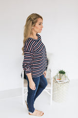 Vibe Multi Stripe Long Sleeve Tee