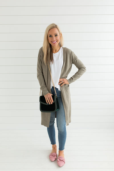 Celia Pocket Cardigan - Mocha