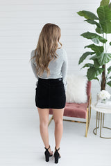 Abby High Waist Skirt - Black