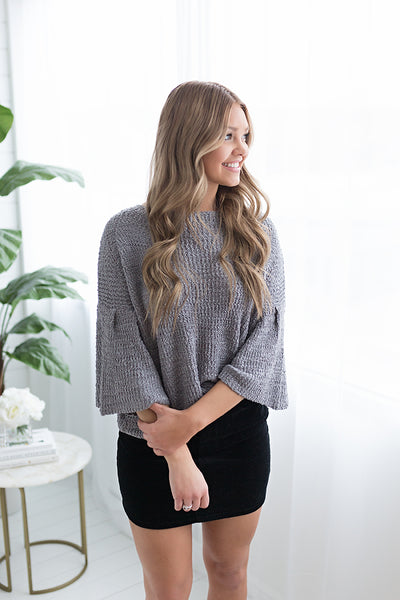 Natalie Trumpet Sleeve Knit Top