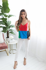 Take me out Color Block Cami Top