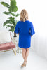 Victoria Knot Dress - Royal Blue
