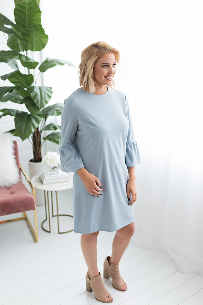 Ariel Bell Sleeve Shift Dress