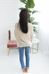 Holly Relaxed Fit Dolman Sleeve Top - Oatmeal