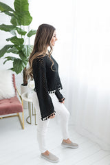Jessie Throw On Tassel Sweater