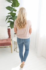 Bianca Knotted Tee - Tan