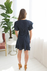 Bianca Flutter Hem Dress