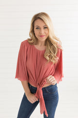 Light as a Feather Pleated Top