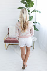 Spring in Your Step Lightweight Sweater - Pink
