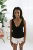 Polly Deep V Tank - Black