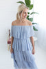 Kody Pleated Dress - Lt. Blue