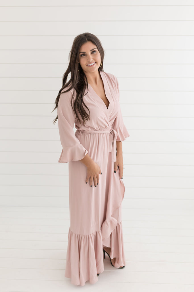 Vivian Ruffle Maxi Dress