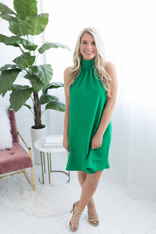 Annie Mock Neck Dress