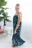 Fragrant Floral Maxi Dress - Navy