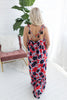Fragrant Floral Maxi Dress - Red