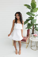 Kennedy Mini Dress - White