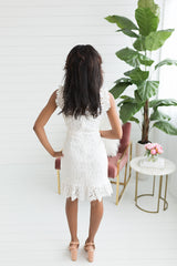 Molly Lace Dress - White