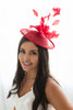 Doll Louie Fascinator - Red
