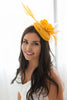 Doll Rebecca Fascinator - Yellow
