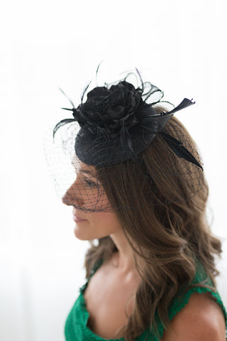 Doll Revecca Fascinator - Black