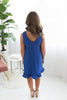Any Occasion Ruffled Hem Dress - Royal
