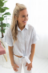 Sunnie Checkered Button Up