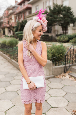 Around in Circles Lace Dress
