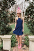 Jillian Racerback Lace Dress - Navy