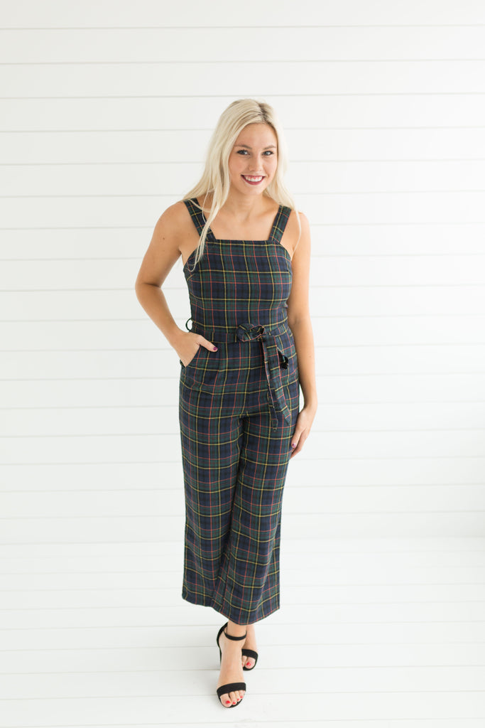 Reign Plaid Jumpsuit